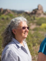 Darlene Justus (right) and Deb Gain-Braley were among those who successfully lobbied to make Tempe's portion of Papago Park a preserve.