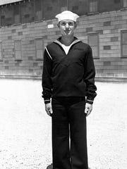 John Marion Seward, son of Raymond Seward, grandson of F.M. Seward, is shown during boot camp at the Great Lakes U.S. Naval Training Center in 1942.
