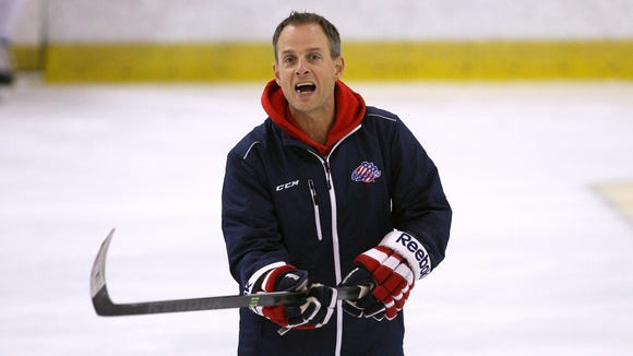 Amerks head coach Chadd Cassidy during training camp.