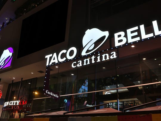 Taco Bell Cantina on the Las Vegas Strip is the fast-food chain's busiest location, according to a press release.