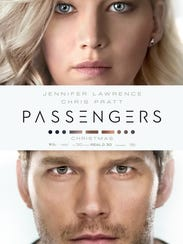 """The movie poster for """"Passengers."""""""