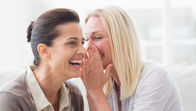 Woman revealing secret