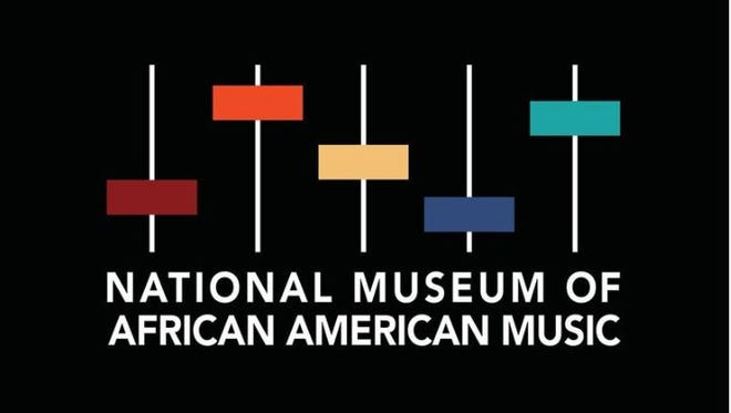 The logo for the National Museum of African American Music planned at Fifth + Broadway.