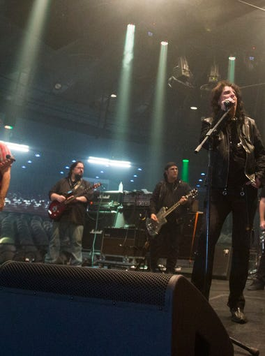 Hollywood Vampires perform during a soundcheck before