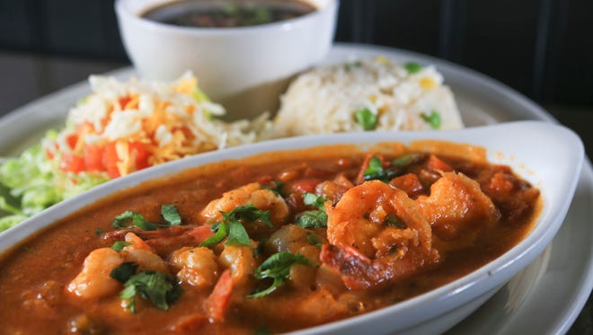 The camarones Acapulco has shrimp in a slightly spicy sauce from Hay! Chi Wa Waa at 808 Lyndon Lane in Lyndon.