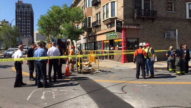 A worker in the man hole came in contact with live wire.