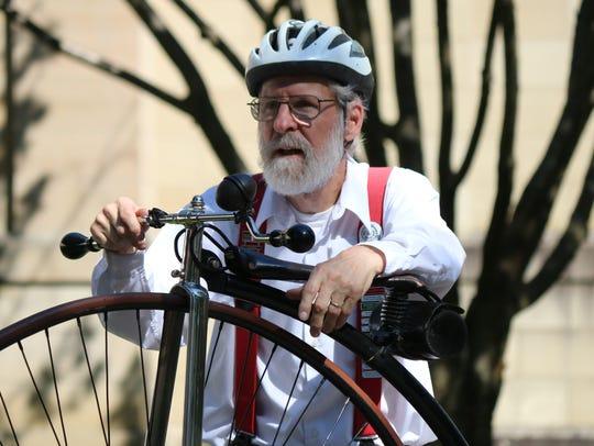 Dick DeLombard, of the Ohio Wheelmen, said he has been