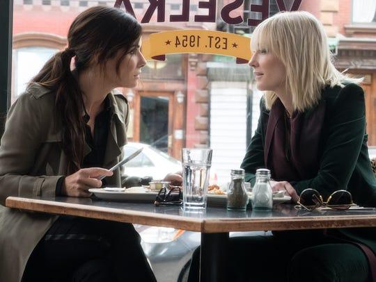 """Sandra Bullock (left) and Cate Blanchett star in """"Ocean's"""