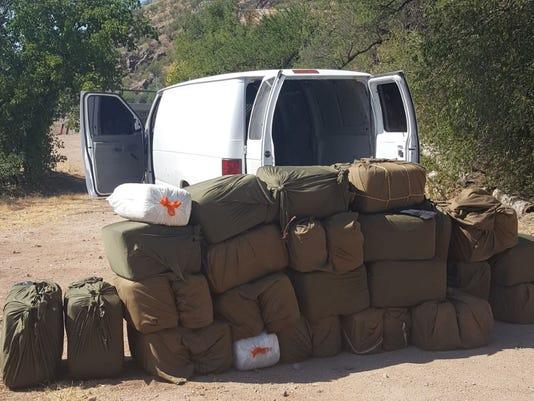 1,100 pounds on Marijuana