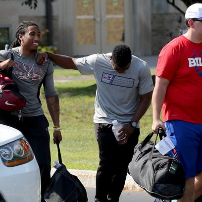Cornerback Ronald Darby arrives at Bills training camp at St. John Fisher on Wednesday.