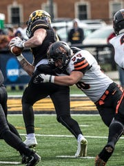Newark Catholic graduate Kyle Gibson from Findlay sacks