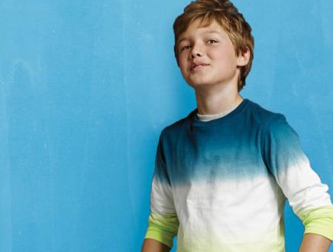 As fun as tank tops and flip-flops are to lounge around in during the summer, a new school year means a new wardrobe. Boys long-sleeve tie-dye super T-shirt, $19.50, and classic fit Iron Knee jeans, $29, both at Lands' End. (Gannett/File)