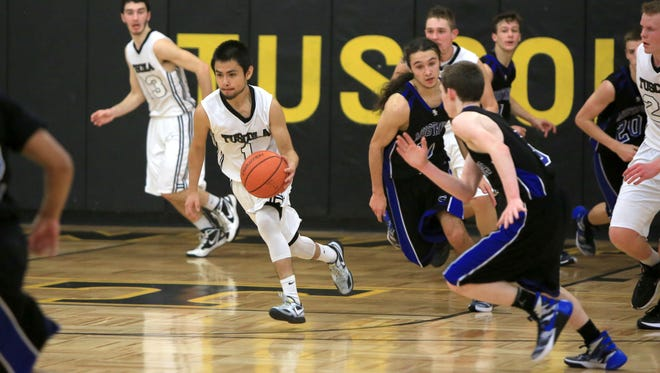 The Smoky Mountain and Tuscola boys played last Friday in Waynesville.