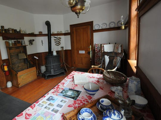 One of the rooms at Eagle Bluff Lighthouse Museum as