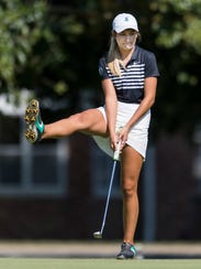 North's Abby Whittington watches as her ball misses