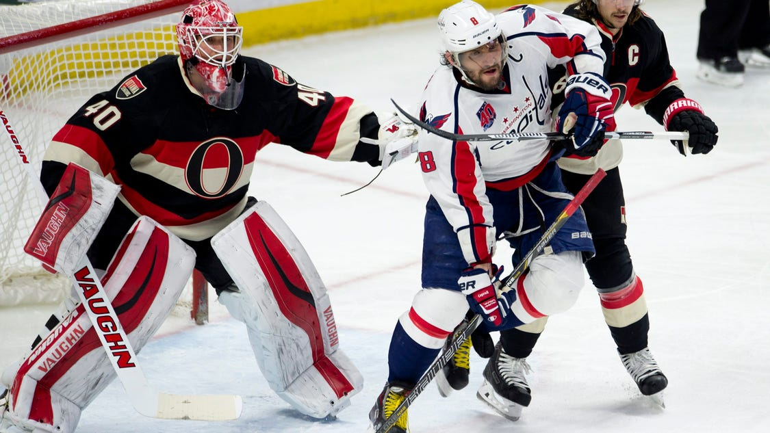 ovechkin scores winner capitals edge senators 2 1. Black Bedroom Furniture Sets. Home Design Ideas