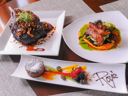 Dishes prepared in the kitchen of Roy's restaurant