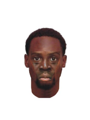 Police sketch of the suspect in the killing of Catherine Wicker, 81.