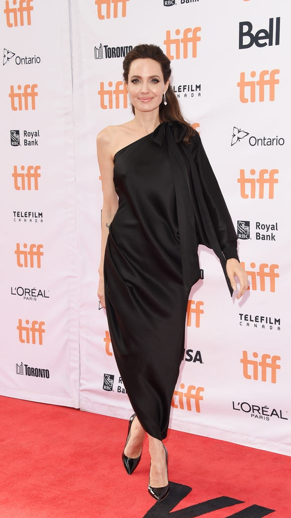 Angelina Jolie opted for a more formal outfit for her
