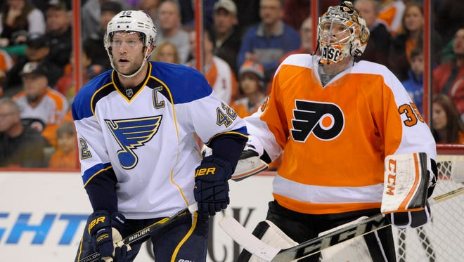 The Flyers beat the Blues 4-1 in their last visit to Philly.