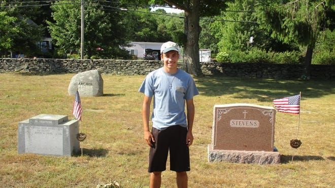 Life Scout Demetre Baltas of Swansea placed flags at every veteran's grave in Mount Hope Cemetery, a project required to attain the rank of Eagle Scout.