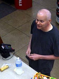 This FBI says this surveillance photo shows Eric Conn at a gas station in New Mexico.