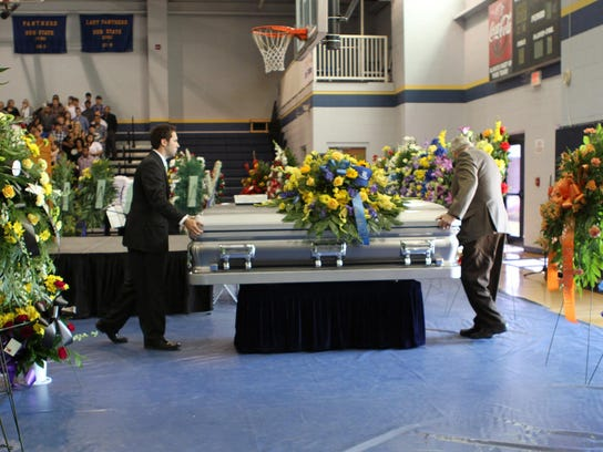 Family, friends and members of the community attended