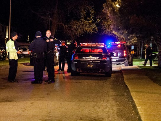 Several police departments were on scene of a shooting