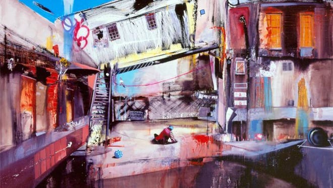"""Internationally renowned artist Marcus Jansen says Southwest Florida's housing crisis, which touched him, inspired him to paint """"Foreclosures"""" in 2008, The artist recently took over a renovated gallery and studio space at 2633 Martin Luther King Jr. Blvd.in the Dunbar neighborhood of Fort Myers."""