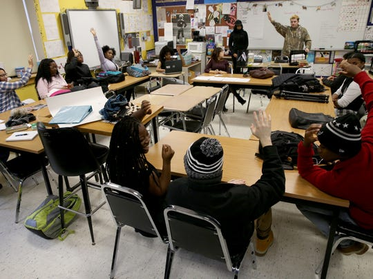 Students at School Without Walls work to come to consensus