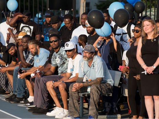 Members of the Asbury Park community come together