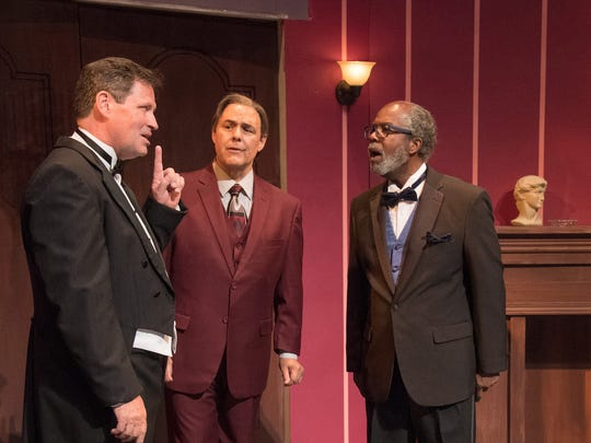 "Richard Bugg, Peter Sham and Clarence Gilyard appear in the Neil Simon Festival's 2017 production of ""The Dinner Party."""