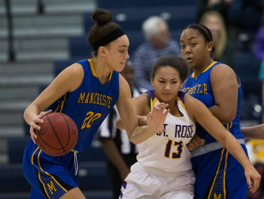 St. Rose Girls Basketball vs Manchester in quarterfinal