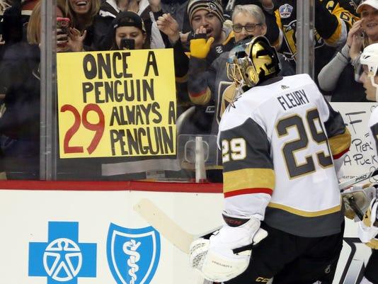 USP NHL: VEGAS GOLDEN KNIGHTS AT PITTSBURGH PENGUI S HKN PIT VGK USA PA