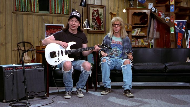 Wayne (Mike Myers) and Garth (Dana Carvey) created