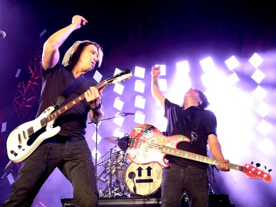 Johnny Rzeznik, left, and Robby Takac of the band The