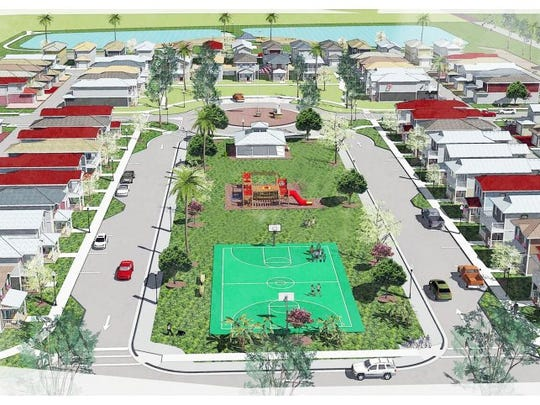 The Habitat for Humanity neighborhood off of Davis Boulevard in East Naples will be called 'Vincent's Acres.' The neighborhood will have approximately 70 homes and lots of green space. Submitted
