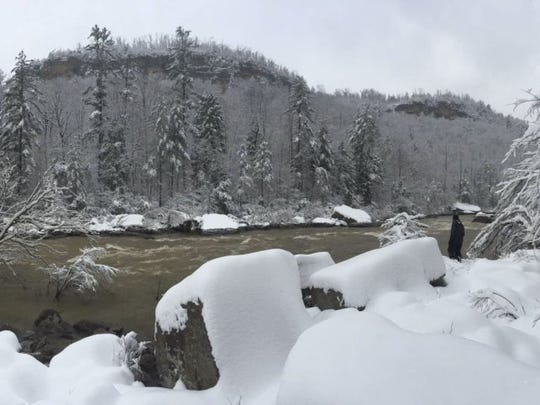 Big South Fork National River and Recreation Area is pictured Jan. 25. Chicago-based Silver Fir Media is producing a new documentary film about Big South Fork that will premiere Aug. 27 at the Bandy Creek Visitor Center. (SILVER FIR MEDIA/SPECIAL TO THE NEWS SENTINEL)