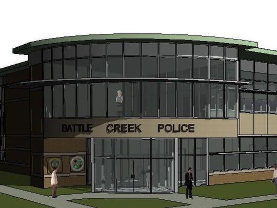 An architect's rendering of what a new Battle Creek