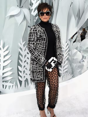 PARIS, FRANCE - JANUARY 27:  Kris Jenner attends the Chanel show as part of Paris Fashion Week Haute Couture Spring/Summer 2015 on January 27, 2015 in Paris, France.  (Photo by Pascal Le Segretain/Getty Images) ORG XMIT: 534645061 ORIG FILE ID: 462335492