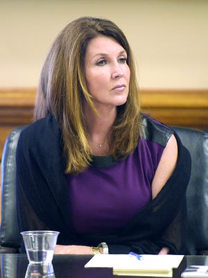 TNA's Dixie Carter was in court during a hearing in the lawsuit involving Billy Corgan of Smashing Pumpkins and TNA wrestling in Chancellor  Ellen Hobbs Lyle's courtroom on Wednesday, Oct 26, 2016.