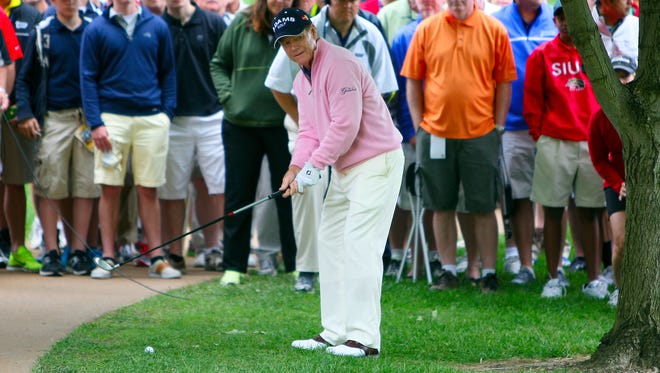 Tom Watson is shown playing in last year's Senior PGA Championship. This year he will be part of a tournament that will include a Par 3 course.