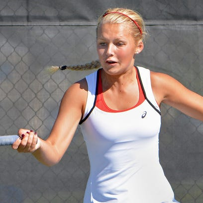 Homestead senior Katya Mikhailenko is the first singles player for the top-rated Homestead girls tennis team.