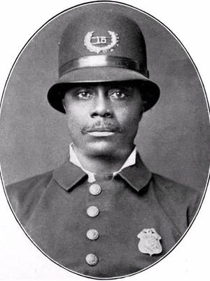 Samuel J. Battle early in his police career.