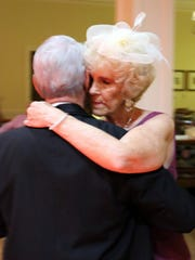 Susie and Dave Walsh enjoying the last slow dance of