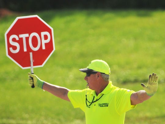 Crossing guard Jim Foley says most motorists obey the