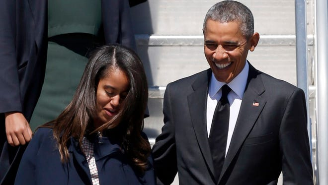 President Obama and daughter Malia last month.