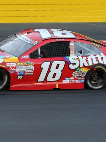 Kyle Busch started 17th in Sunday night's Coca-Cola