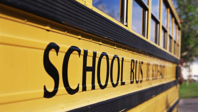 A school bus accident sent two students to the hospital as a precaution, the Greenville school district said.