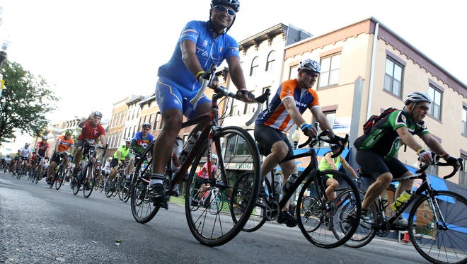 About 2,100 cyclists rode in the 2015 gran fondo in Morristown, New Jersey. Gran fondo rides are spreading across North America, giving bike riders a chance to participate in low-pressure races.